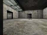 DM-5CubesAtomicShockwave - Concrete room with 2 shafts off