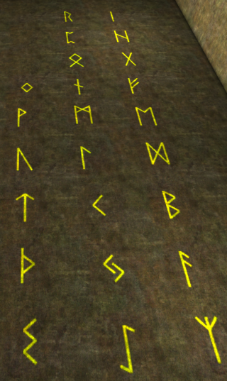 Picture of the full Runic alphabet